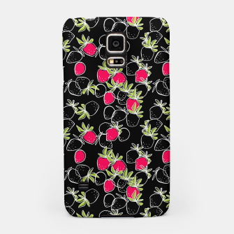 Thumbnail image of Abstract strawberry red berry modern pattern black hand drawn Samsung Case, Live Heroes