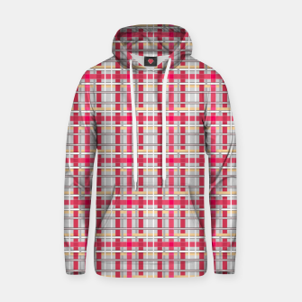Thumbnail image of Grey-pink plaid check checkered tartan scottish Hoodie, Live Heroes