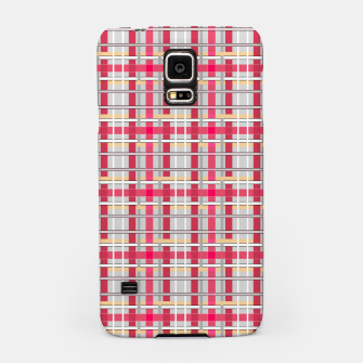 Thumbnail image of Grey-pink plaid check checkered tartan scottish Samsung Case, Live Heroes