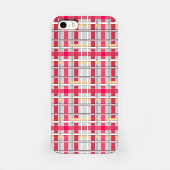 Thumbnail image of Grey-pink plaid check checkered tartan scottish iPhone Case, Live Heroes