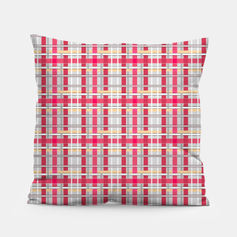 Thumbnail image of Grey-pink plaid check checkered tartan scottish Pillow, Live Heroes