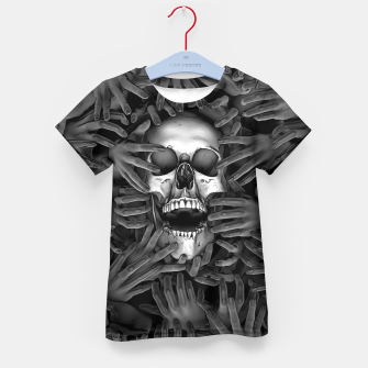 Imagen en miniatura de Hell Reclaims It's Own Kid's t-shirt, Live Heroes