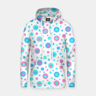 Thumbnail image of Geometric circles and stars kids fun bright cartoon seamless pattern Hoodie, Live Heroes