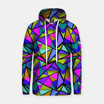 Imagen en miniatura de Abstract geometric pattern colorful triangles in pink blue line, black, blue, pink, green, colorful, abstract, shapes, geometric Hoodie, Live Heroes