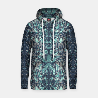 Thumbnail image of Abstract blue black pattern tiger skin leather zebra print modern textured Hoodie, Live Heroes
