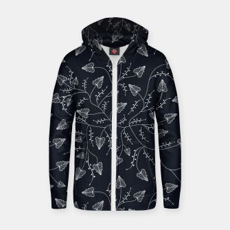 Imagen en miniatura de Seamless floral pattern background with graphic leaves Zip up hoodie, Live Heroes