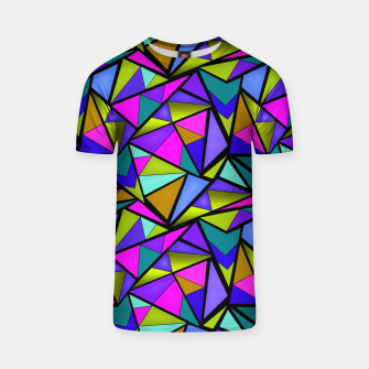Imagen en miniatura de Abstract geometric pattern colorful triangles in pink blue line, black, blue, pink, green, colorful, abstract, shapes, geometric T-shirt, Live Heroes