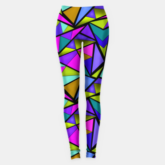 Miniature de image de Abstract geometric pattern colorful triangles in pink blue line, black, blue, pink, green, colorful, abstract, shapes, geometric Leggings, Live Heroes