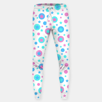 Thumbnail image of Geometric circles and stars kids fun bright cartoon seamless pattern Sweatpants, Live Heroes