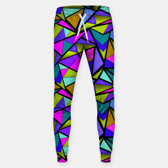 Miniature de image de Abstract geometric pattern colorful triangles in pink blue line, black, blue, pink, green, colorful, abstract, shapes, geometric Sweatpants, Live Heroes