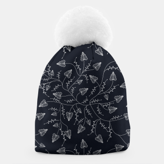 Imagen en miniatura de Seamless floral pattern background with graphic leaves Beanie, Live Heroes