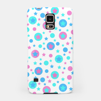 Thumbnail image of Geometric circles and stars kids fun bright cartoon seamless pattern Samsung Case, Live Heroes