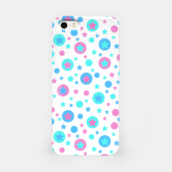 Thumbnail image of Geometric circles and stars kids fun bright cartoon seamless pattern iPhone Case, Live Heroes
