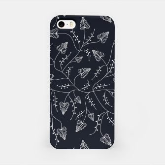 Imagen en miniatura de Seamless floral pattern background with graphic leaves iPhone Case, Live Heroes