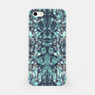 Miniatur Abstract blue black pattern tiger skin leather zebra print modern textured iPhone Case, Live Heroes