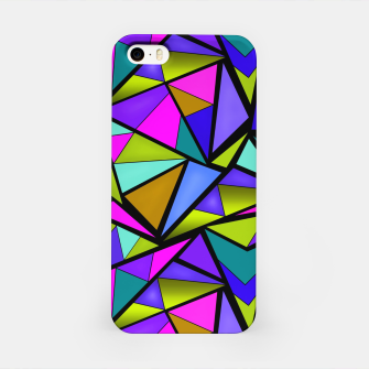 Thumbnail image of Abstract geometric pattern colorful triangles in pink blue line, black, blue, pink, green, colorful, abstract, shapes, geometric iPhone Case, Live Heroes