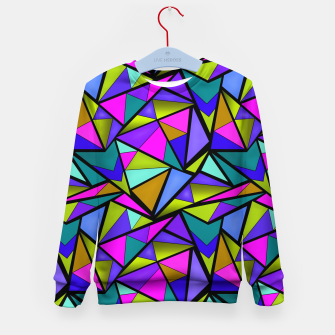 Thumbnail image of Abstract geometric pattern colorful triangles in pink blue line, black, blue, pink, green, colorful, abstract, shapes, geometric Kid's sweater, Live Heroes
