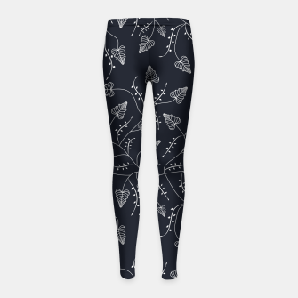Imagen en miniatura de Seamless floral pattern background with graphic leaves Girl's leggings, Live Heroes