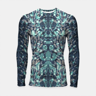 Thumbnail image of Abstract blue black pattern tiger skin leather zebra print modern textured Longsleeve rashguard , Live Heroes