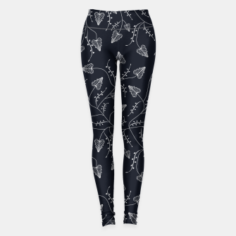 Imagen en miniatura de Seamless floral pattern background with graphic leaves Leggings, Live Heroes