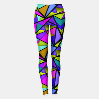 Thumbnail image of Abstract geometric pattern colorful triangles in pink blue line, black, blue, pink, green, colorful, abstract, shapes, geometric Leggings, Live Heroes