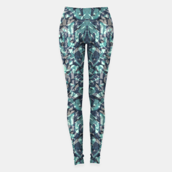 Thumbnail image of Abstract blue black pattern tiger skin leather zebra print modern textured Leggings, Live Heroes