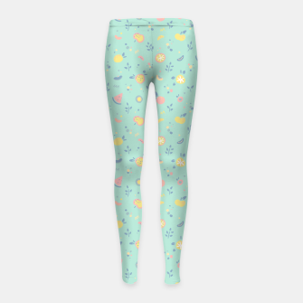 Miniature de image de Oceana Fruity Bonfire Girl's leggings, Live Heroes
