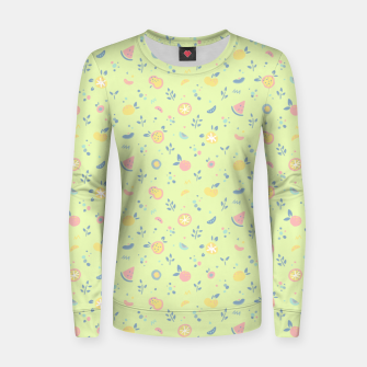 Miniatur Lime Cream Fruity Bonfire Women sweater, Live Heroes