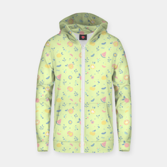 Miniatur Lime Cream Fruity Bonfire Zip up hoodie, Live Heroes