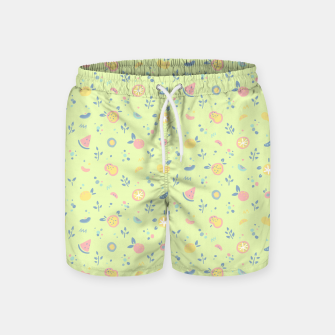 Miniatur Lime Cream Fruity Bonfire Swim Shorts, Live Heroes