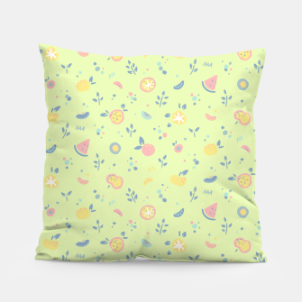 Miniatur Lime Cream Fruity Bonfire Pillow, Live Heroes