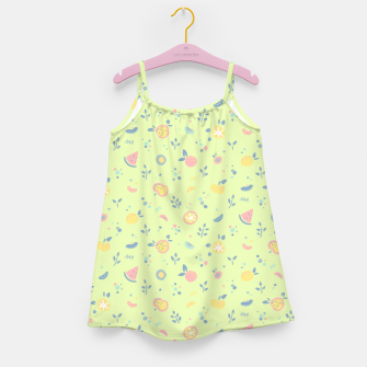 Miniatur Lime Cream Fruity Bonfire Girl's dress, Live Heroes