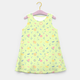 Miniatur Lime Cream Fruity Bonfire Girl's summer dress, Live Heroes