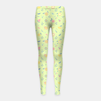 Miniatur Lime Cream Fruity Bonfire Girl's leggings, Live Heroes
