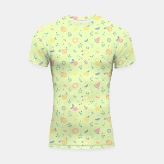 Miniatur Lime Cream Fruity Bonfire Shortsleeve rashguard, Live Heroes