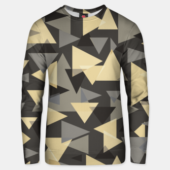 Miniature de image de The dark side, mix of elegant abstract chaotic triangles scattered in all directions pattern Unisex sweater, Live Heroes