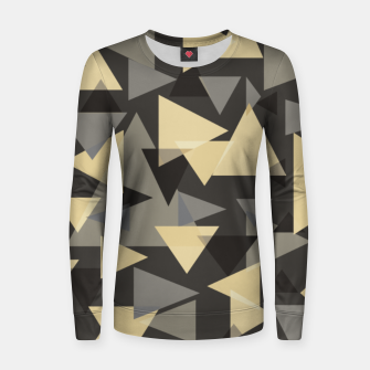 Miniature de image de The dark side, mix of elegant abstract chaotic triangles scattered in all directions pattern Women sweater, Live Heroes