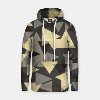 Miniature de image de The dark side, mix of elegant abstract chaotic triangles scattered in all directions pattern Hoodie, Live Heroes