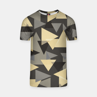 Miniature de image de The dark side, mix of elegant abstract chaotic triangles scattered in all directions pattern T-shirt, Live Heroes