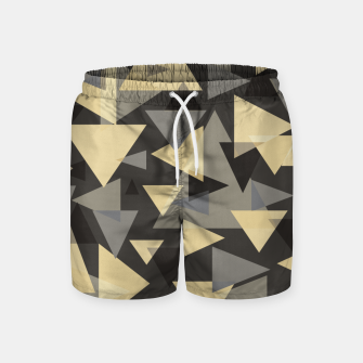 Miniature de image de The dark side, mix of elegant abstract chaotic triangles scattered in all directions pattern Swim Shorts, Live Heroes