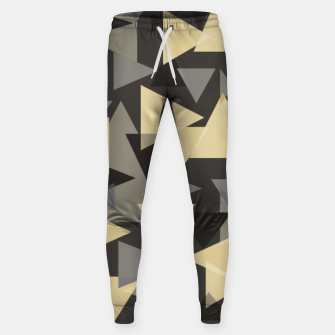 Miniature de image de The dark side, mix of elegant abstract chaotic triangles scattered in all directions pattern Sweatpants, Live Heroes