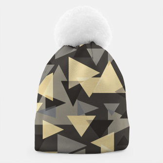 Miniature de image de The dark side, mix of elegant abstract chaotic triangles scattered in all directions pattern Beanie, Live Heroes