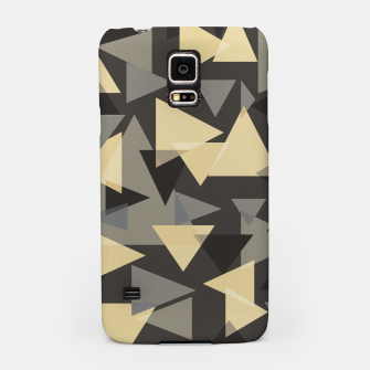 Miniature de image de The dark side, mix of elegant abstract chaotic triangles scattered in all directions pattern Samsung Case, Live Heroes
