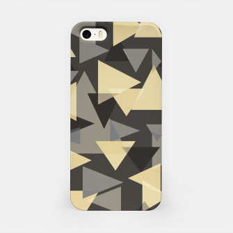 Miniature de image de The dark side, mix of elegant abstract chaotic triangles scattered in all directions pattern iPhone Case, Live Heroes