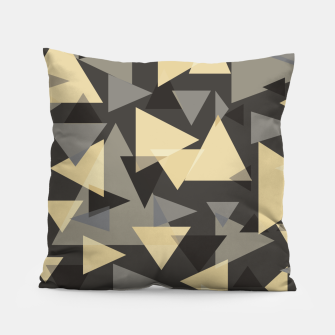 Miniature de image de The dark side, mix of elegant abstract chaotic triangles scattered in all directions pattern Pillow, Live Heroes