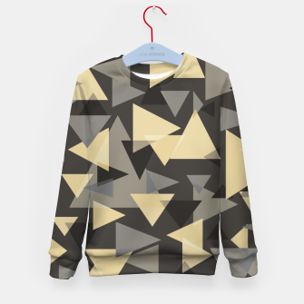 Miniature de image de The dark side, mix of elegant abstract chaotic triangles scattered in all directions pattern Kid's sweater, Live Heroes