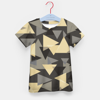 Miniature de image de The dark side, mix of elegant abstract chaotic triangles scattered in all directions pattern Kid's t-shirt, Live Heroes
