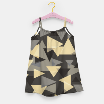 Miniature de image de The dark side, mix of elegant abstract chaotic triangles scattered in all directions pattern Girl's dress, Live Heroes
