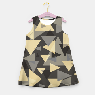 Miniature de image de The dark side, mix of elegant abstract chaotic triangles scattered in all directions pattern Girl's summer dress, Live Heroes