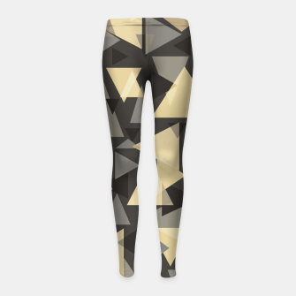 Miniature de image de The dark side, mix of elegant abstract chaotic triangles scattered in all directions pattern Girl's leggings, Live Heroes
